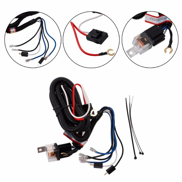 universal 12v electric horn relay wiring harness kit for grille mount blast  tone horns car high