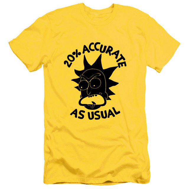 Rick And Morty men's T-Shirt – 20% ACCURATE