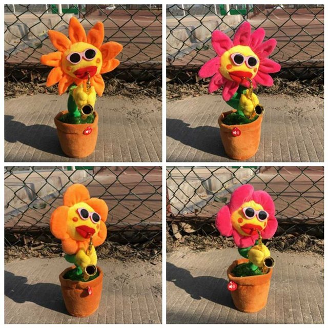 Funny flower cat toy