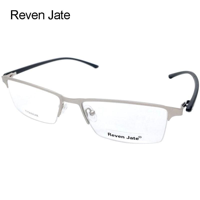 Reven Jate P8838 Optical Business Titanium gözlükləri Kişilər üçün Çərçivə 5 Əlavə Rəngləri olan Yarı Rimsiz Eynəklər