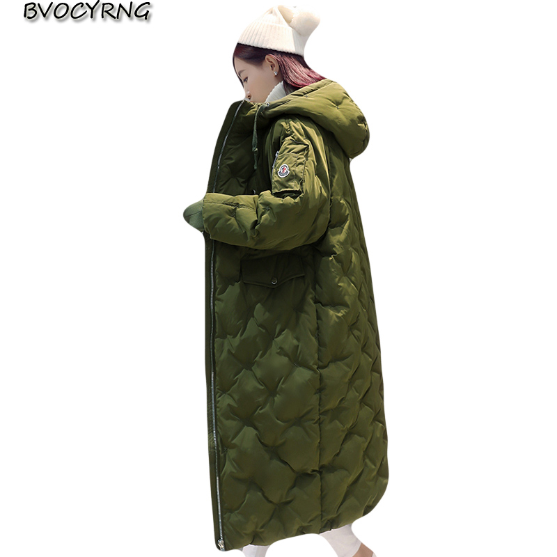 2017New Korean Cotton Padded Coat Women Long Parkas Ladies Warm Loose Jacket Hooded Thick Winter Jacket Elegant Outerwear A0028 cтяжка пластиковая gembird nytfr 150x3 6 150мм черный 100шт