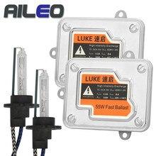 AILEO Car Headlight Bulbs H4 Xenon H7 H1 H3 H8 H9 H10 H11 H16(JP) 9005 9006  HB2 HB3 HB44300K 5800K 55W HID