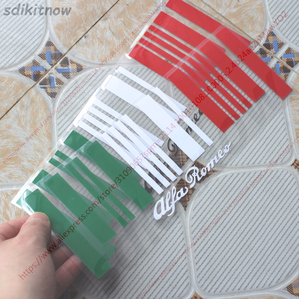 9x25cm Made In Italy Flag Bar Code Car Funny Sticker PVC Decal Styling For Alfa Romeo GT 159 156 147 Giulietta Mito Stelvio