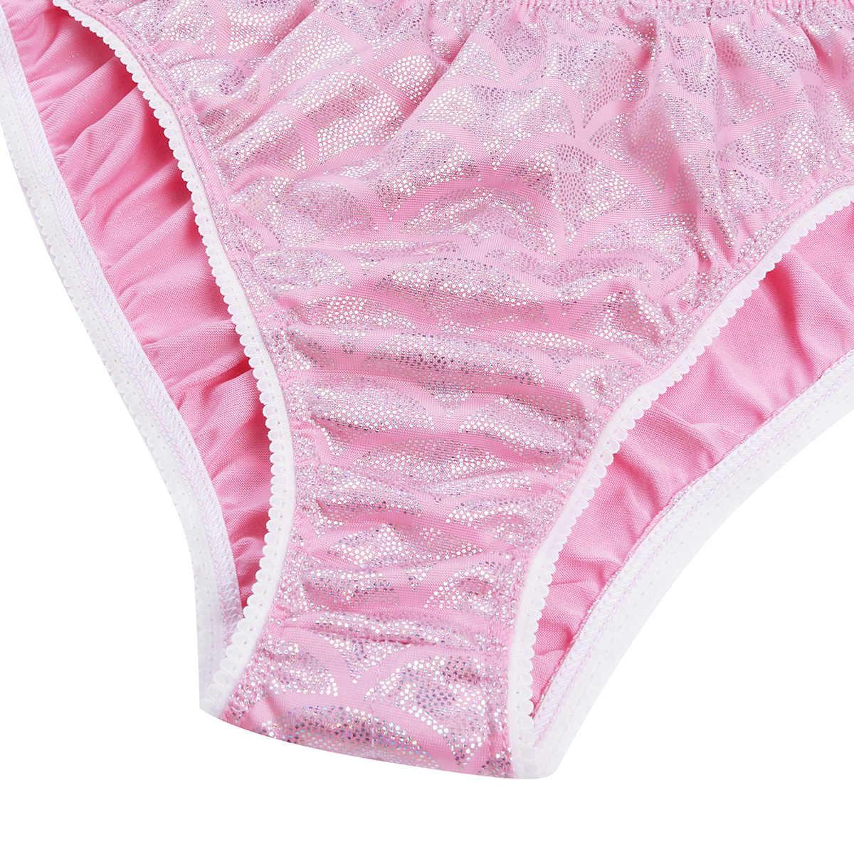 0ff8c6b9c47a ... Men Mermaid Scale Bikini Sissy Stretch Ruched Back Briefs Low Rise  Penis Pouch Underwear Bulge Thongs