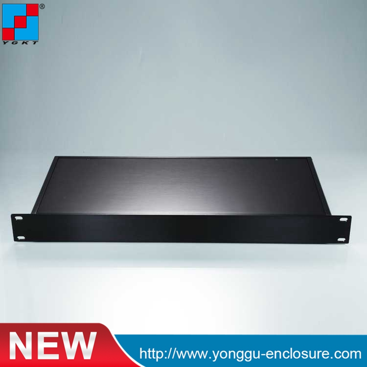 1U 482*45-200mm(width x high x length) 19 inch rack enclosure class a aluminum amplifier enclosure chassis