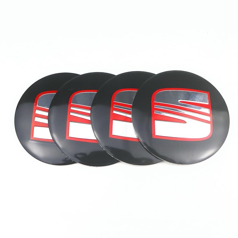 4pcs 56mm Aluminum Car Wheel Center Caps Sticker For Seat Ibiza 6j 6l Fr Ateca Altea Xl Leon 2 Ateca Fr Leon Ibiza Alhambra
