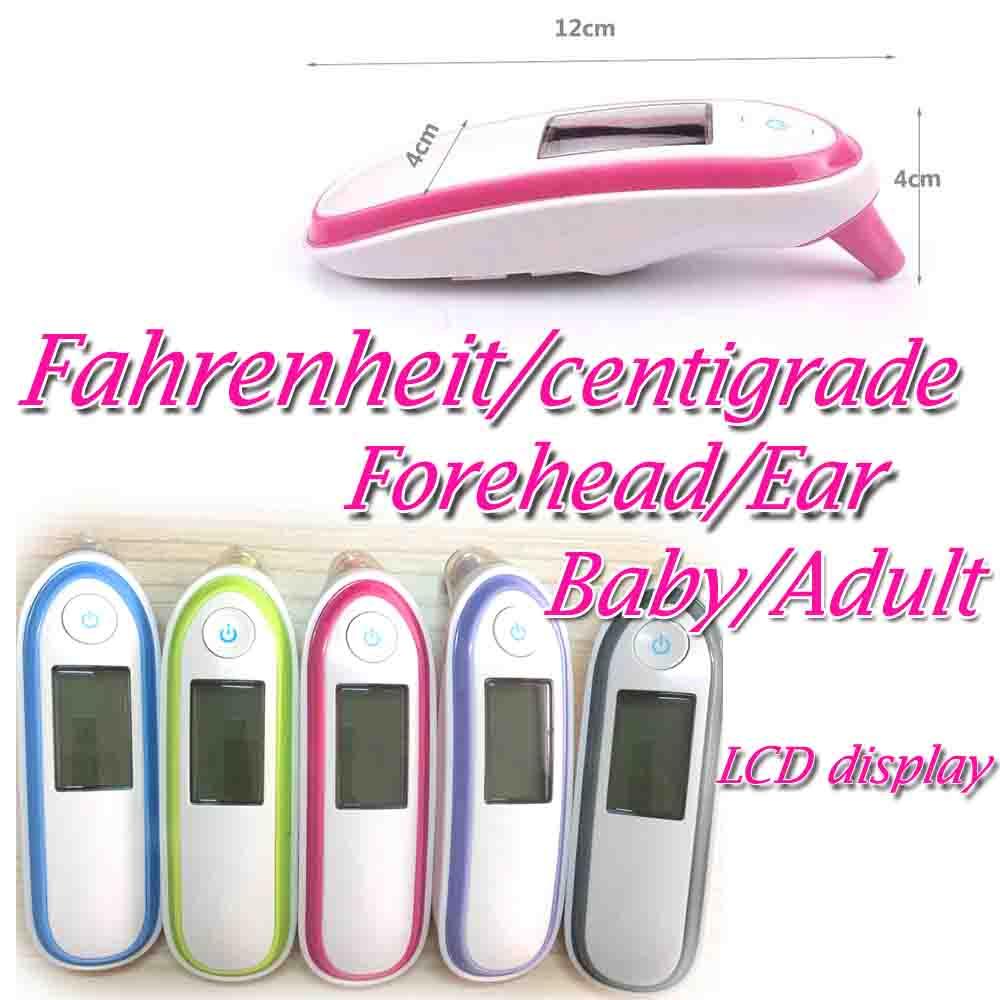 Двойной режим Инфракрасный цифровой термометр Температура лоб Температура уха Температура безопасный для детей и взрослых Фаренгейту градусов