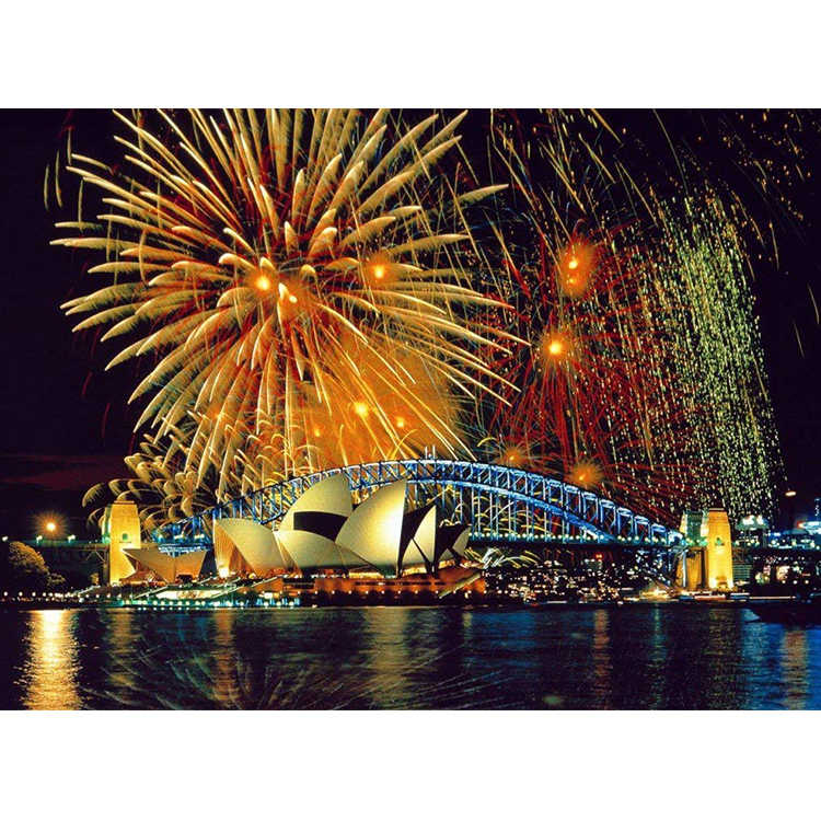Diamond Embroidery Scenery City Fireworks Night View Round drill Cross Stitch diamond painting Home Decor gift