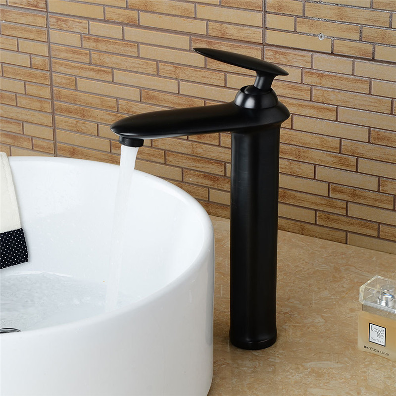 Bathroom Basin Faucets Black oil rubbed Sink Mixer Tap new Style Single Lever Single Hole Deck Mounted  Crane faucets TorneiraBathroom Basin Faucets Black oil rubbed Sink Mixer Tap new Style Single Lever Single Hole Deck Mounted  Crane faucets Torneira
