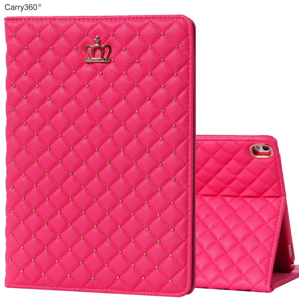 Case for iPad Pro 10.5, Carry360 Luxury Beautiful Crown PU Leather Stand Smart Cover for iPad Pro 10.5 inch + Screen Protector