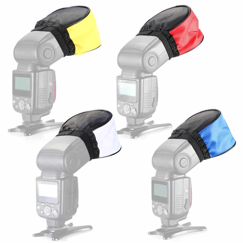 Đa năng Di Động Flash Bounce Khuếch Tán Vải Softbox Cho Speedlight Phản Quang Dành Cho Máy Ảnh Canon Nikon Phụ Kiện Đèn Flash