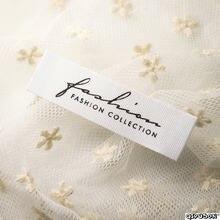 Étiquettes tissées avec logo personnalisé pour vêtements, DH003