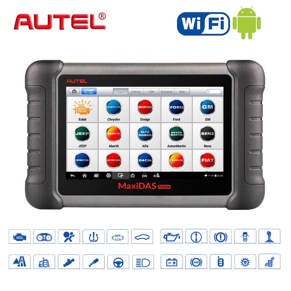Autel Car Diagnostic Tool OBD2 Scanner Maxidas DS808K obd2 Scanner Swift Diagnosis Functions of EPB//DPF/SAS/TMPS WIFI DIY Kit