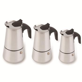 2/4/6-Cup Percolator Stove Top Coffee Maker Stainless Steel Moka Espresso Latte Percolator Stove Top Coffee Maker Pot фото