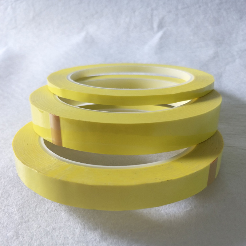5mm~18mm Wide Choose 66M Long/roll Yellow Adhesive Insulation Tape For Transformer Motor Capacitor Coil Wrap Anti-Flame