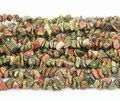 35 pulgadas Tiny Natural unakita granos de la viruta haciendo la pulsera, 5 strands unakita Loose Beads collares de la joyería 5 - 8 mm