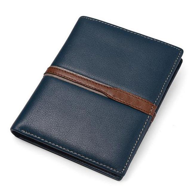 Hombres carteras de cuero de vaca genuino de lujo de alta calidad, el precio del dólar estilo corto bolso masculino, carteira masculina