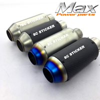 Universal Carbon Fiber Color Motorcycle Scooter Modified Akrapovic SC Muffler Exhaust Pipe Cb600 Yzf Fz400 Z750