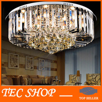 JH Modern Round K9 Crystal Ceiling Lamp LED Lighting Lamps Living Room Restaurant Crystal Lights Free