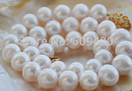AAA++ 17 12mm WHITE ROUND freshwater PEARL NECKLACE NECKLACE AAA++ 17 12mm WHITE ROUND freshwater PEARL NECKLACE NECKLACE