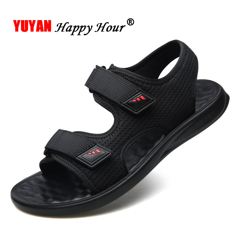 New 2019 Ins Sandals Men Casual Shoes Male Summer Holiday Black Beach Sandals Non-slip Flat Summer Sandals A1301