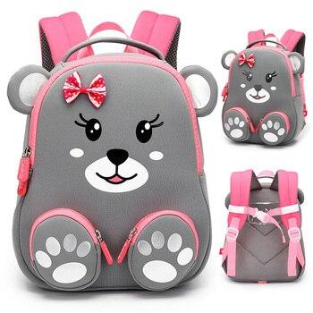 Mode Kinder Schule Rucksack für Mädchen 3D Schöne Bären Schule Taschen Nette Tiere Design Kinder Rucksäcke Kinder Tasche Escolares