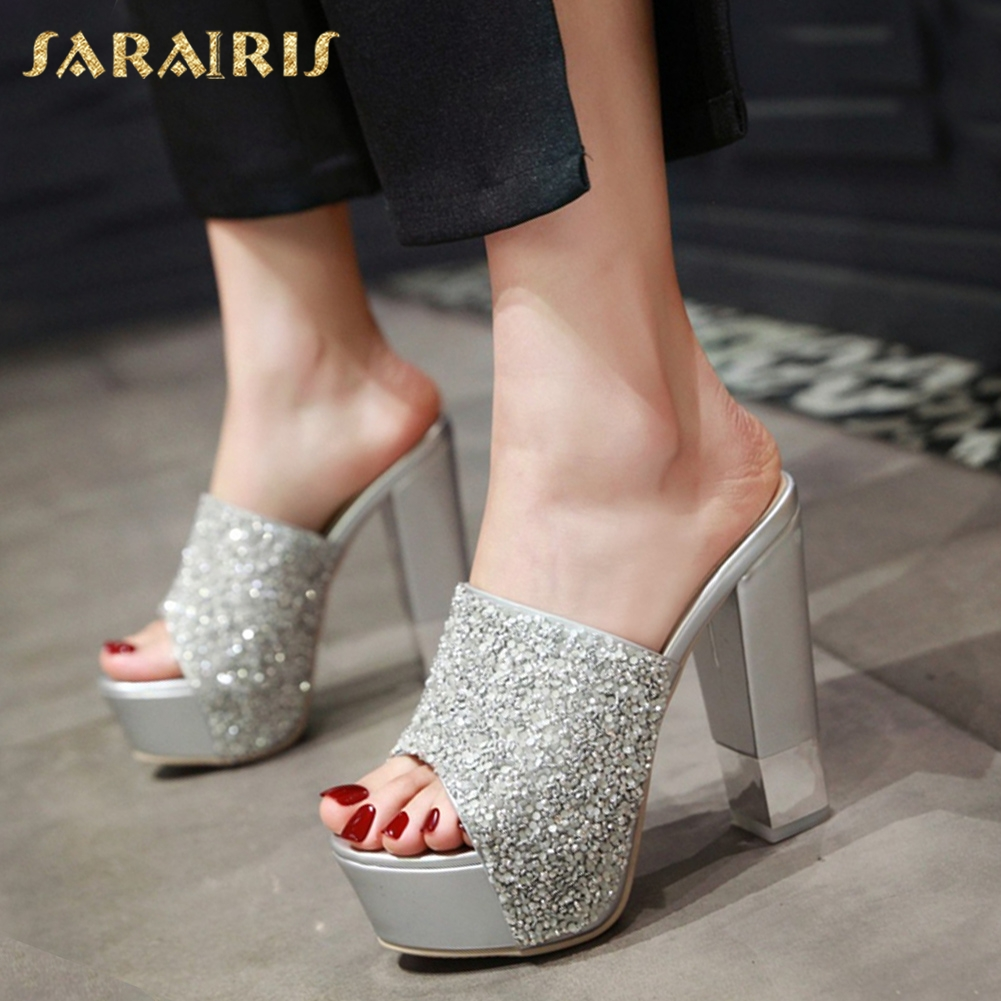 b1f6eb5d9 SARAIRIS 2018 New Arrivals Large Size 33-43 Top Quality Summer Shoes Woman  Sexy Square