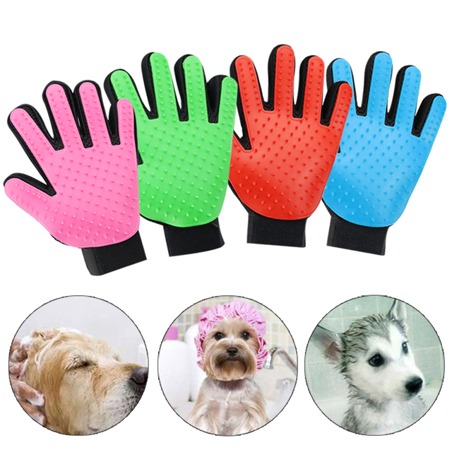 Pet Hair Glove Dog Brush Comb For Pet Grooming Dog Glove Cleaning Massage Supply For Animal Finger Cleaning Cat Hair Glove 40 S1 1