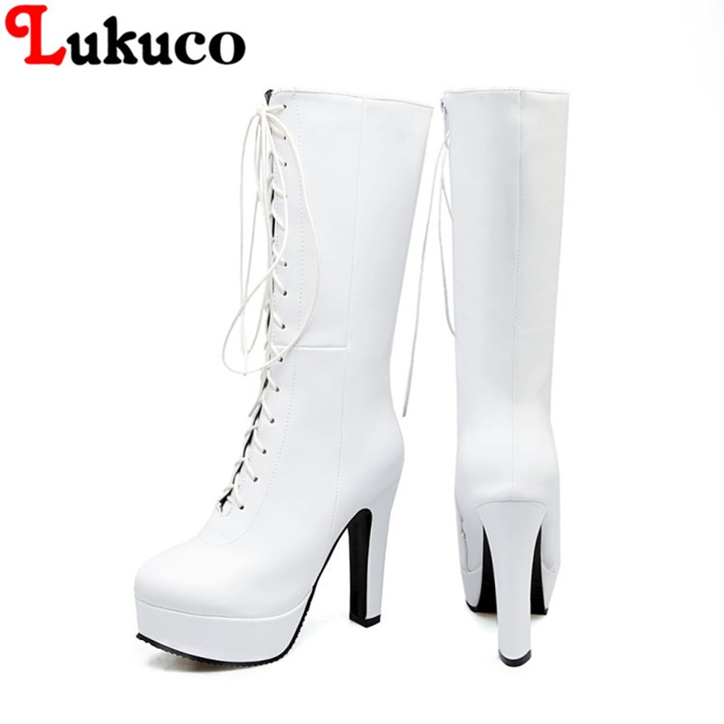 2018 HOT SALE platform boots large CN size 42 43 44 45 46 47 48 49 round toe design women sexy shoes real pictures free shipping наклейки cn hot me