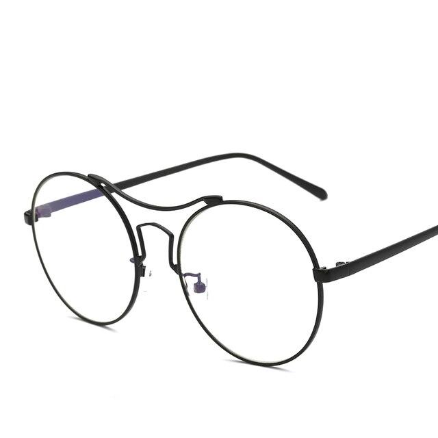 Ретро круглый большой кадр titanium рамка для мужчин и женщин ноги декоративные очки кадров очки рамки очки по рецепту 8056