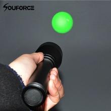 Ночного видения оружие Свет Long Range зеленый лазерный луч фонарик с регулируемым прицела и удаленного давление кнопка