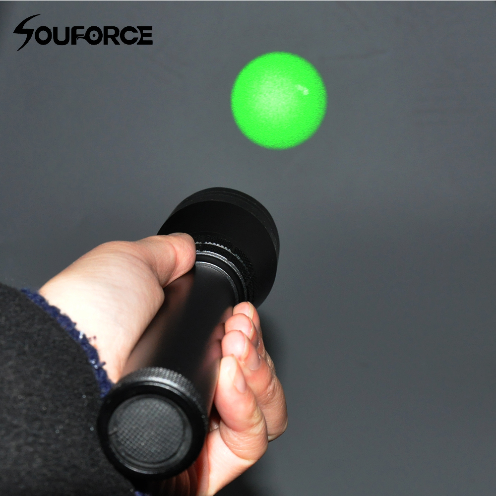 Night Vision Weapon Light Long Range Green Laser Beam Flashlight with Adjustable Scope Mount and Remote Pressure Button