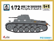 S model 1 72 PS720001 Pz kpfw II Ausf C Plastic model kit