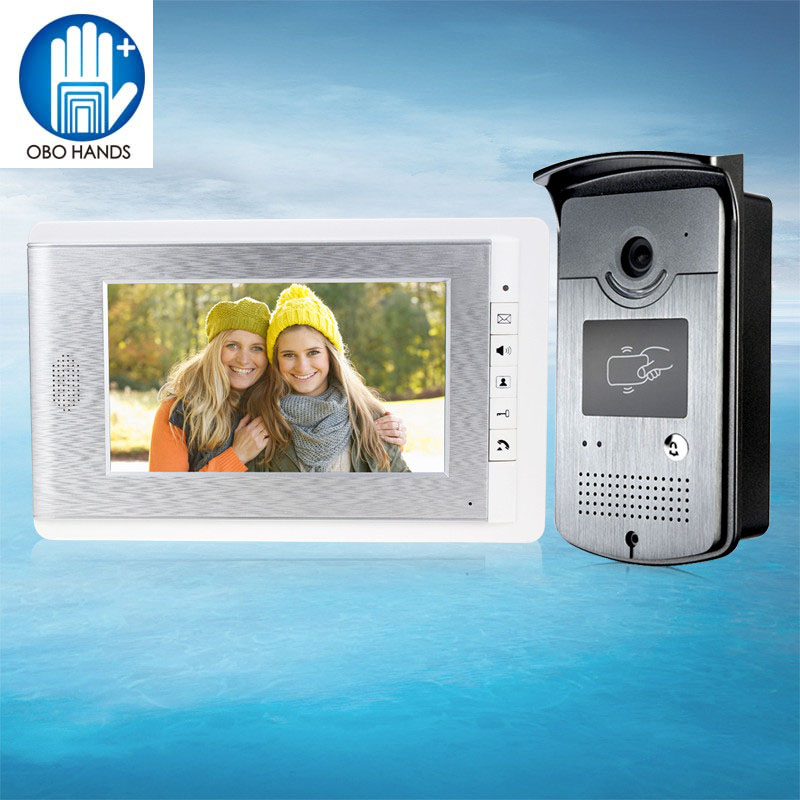 V70CID Wired Color Video Door Phone Intercom System Video Doorbell Indoor Monitor Camera with 25 Ringtone for Apartment Safe