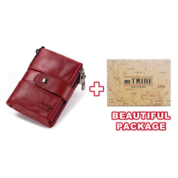 100% Genuine Leather Rfid Wallet Men Crazy Horse Wallets Coin Purse Short Male Money Bag Mini Walet High Quality Boys 11