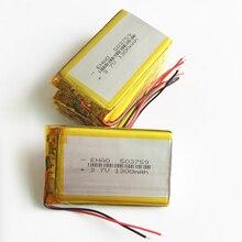 10 יחידות 3.7 v 1300 mah 503759 ליתיום פולימר LiPo נטענת סוללה עבור GPS PSP DVD וידאו PAD ספרים tablet PC רמקול Recoder