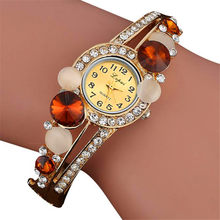 LVpai Brand Luxury Bangle Watches Ladies Crystal Flower Bracelet Women Lovely Gift Dress Quartz Watches Gold Plated Wristwatches(China)