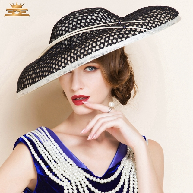 1504f73cd208c Ladies  Fancy Summer Cambric With Bowler Cloche Hat Women s Summer new  fashion hat for women1091