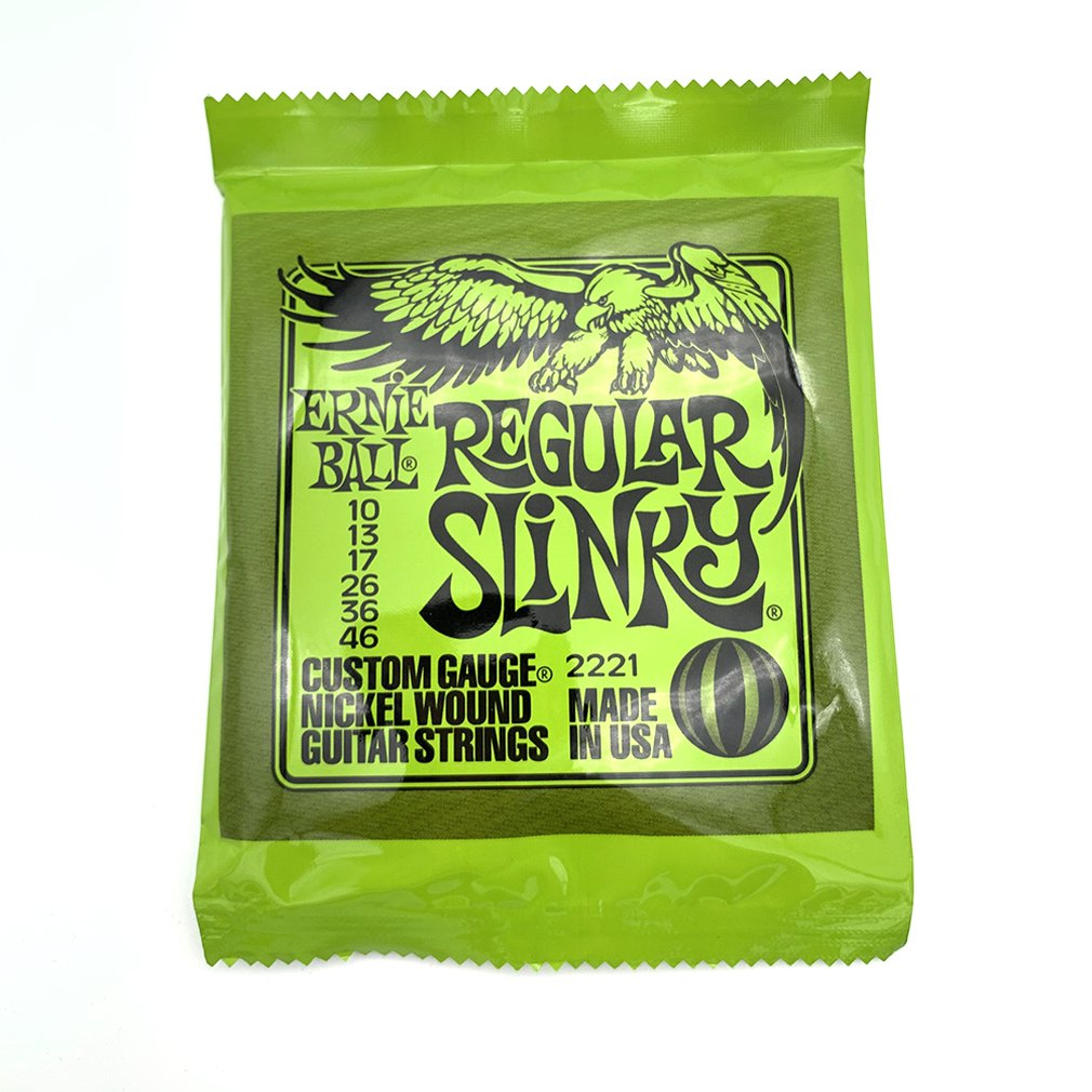 Ernie Ball Electric Guitar Strings Play Real Heavy Metal Rock 2221 2220 2222 2223 2225 2006 2004 Musical Instrument Parts