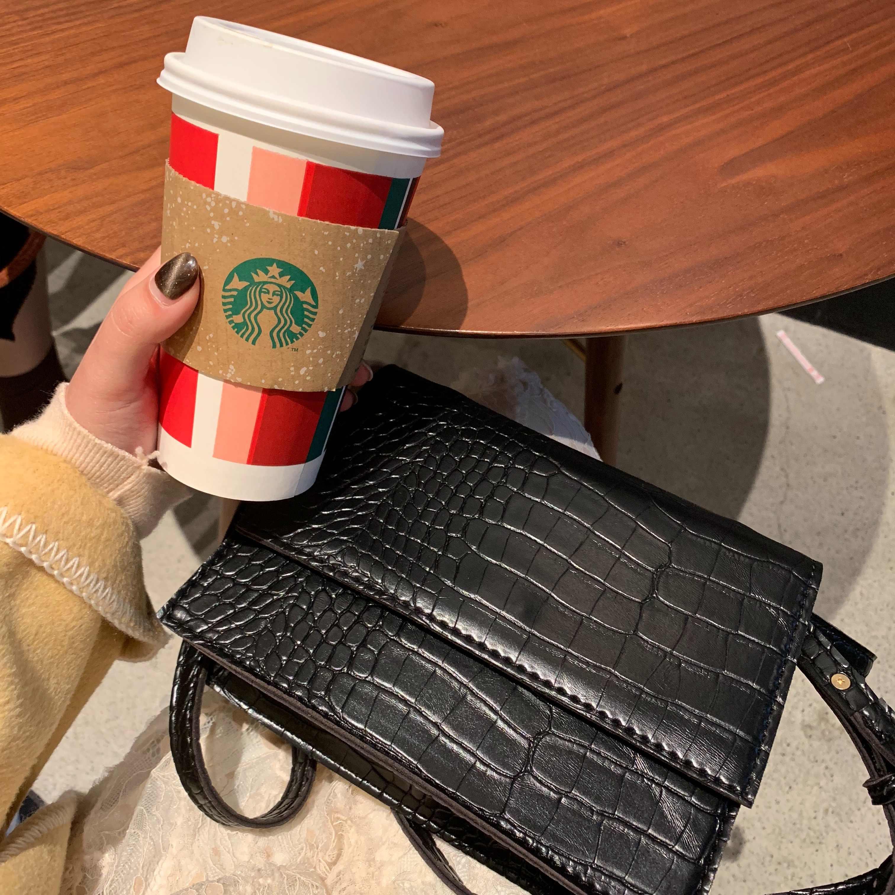 Bolsos De Mujer 2018 cocodrilo pequeño bolso cuadrado bolso bandolera Bolsa femenina bolsos de diseñador de marca famosa Bolsos De Mujer