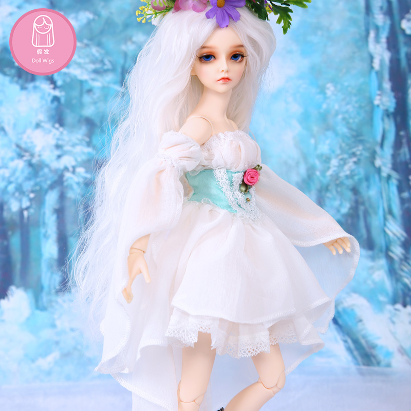 Wig For BJD Doll Free Shipping Size 7-8inch 1/4 High-temperature Wig Handmade Long Hair Bjd Sd Doll Wigs In Beauty