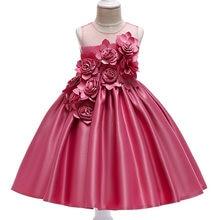 9976df8478548 Enfants filles robes infantile rouge princesse fleur broderie robe pour  soirée formelle 2-10 Y