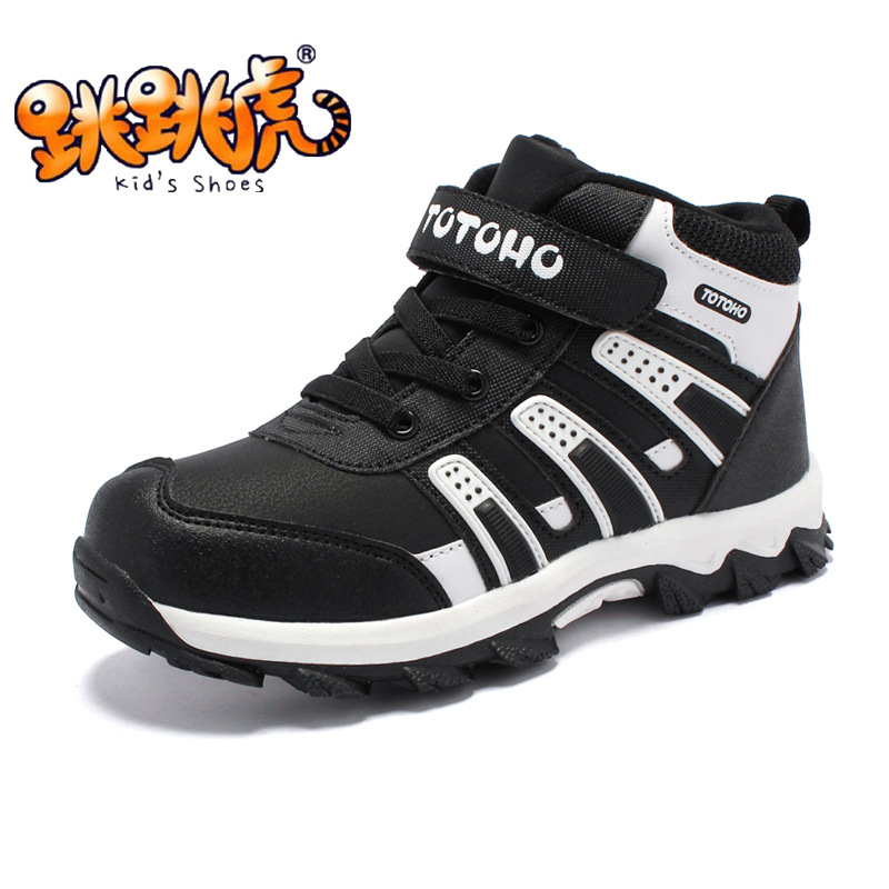 New Warm Children Shoes Brand Kids Leather High Help Shoes Boys Girls Student Breathable Fashion Sneakers Hot Sale aadct spring new travel children shoes low cut casual boys running shoes real leather kids shoes for little girls brand