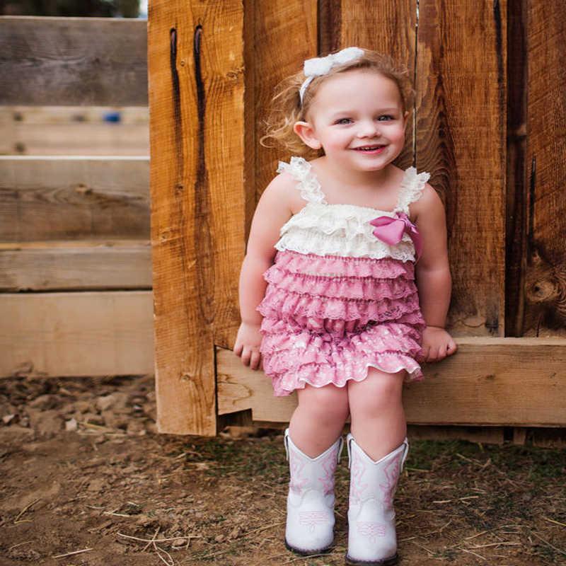 7c717f746e94 Newborn Baby Girl Dress A Line Lace Satin Stitching Princess Girls Romper  Dress Hot Sale Baby