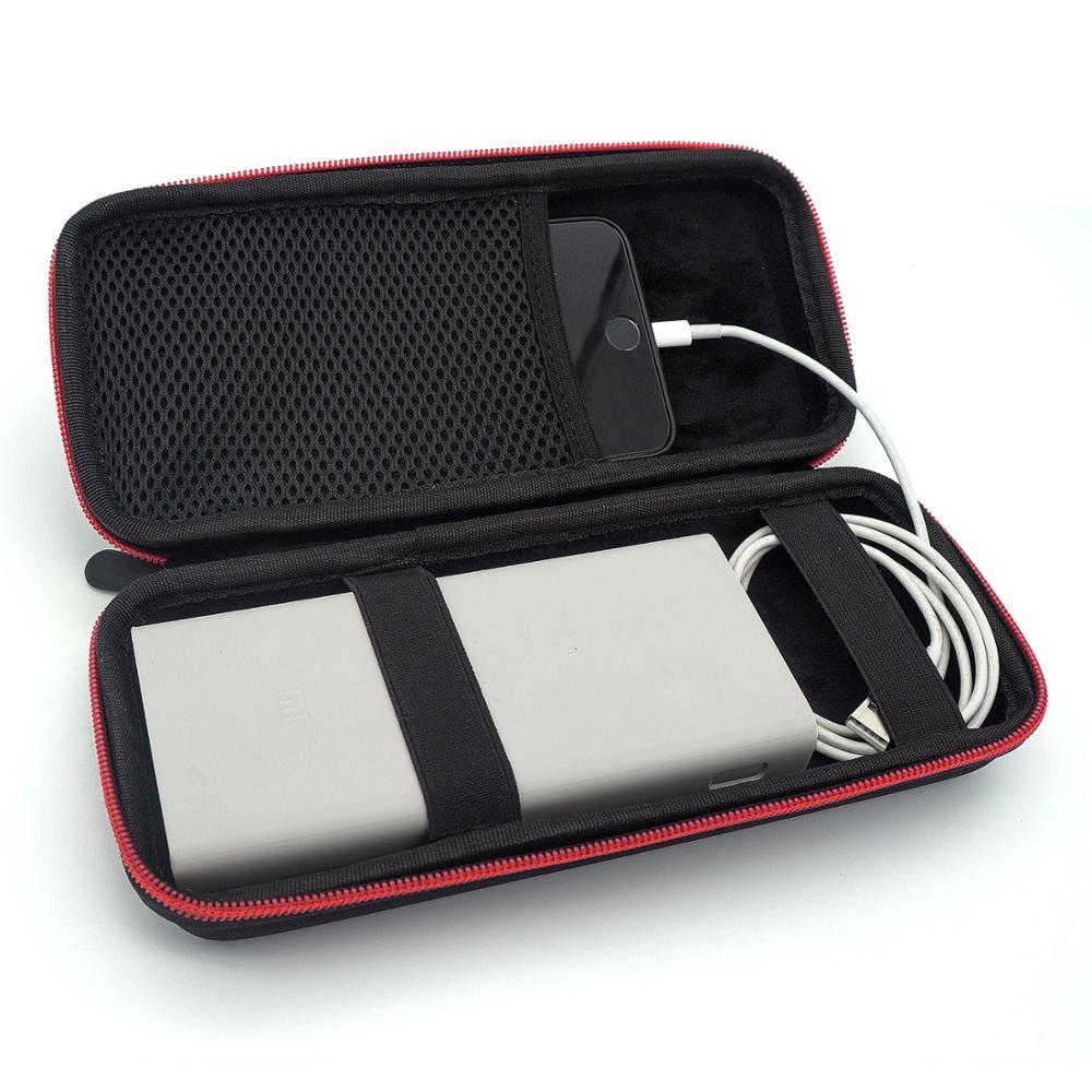 Mais novo eva caso capa dura para xiao mi power bank 20000 20000 mah 2c capa portátil bateria externa telefone powerbank sacos