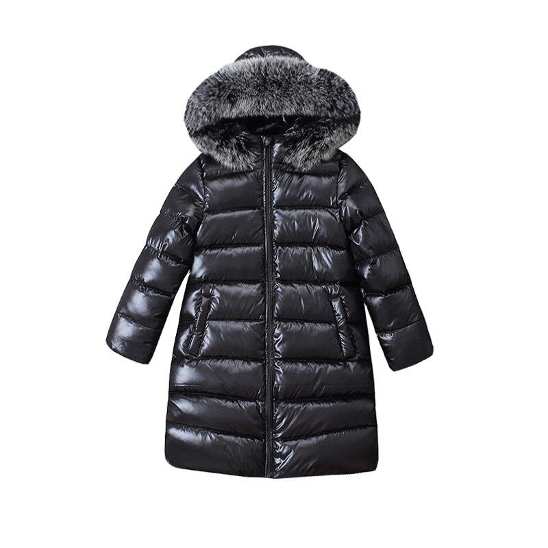 4-8y Kinder Lange Mode Große Pelz Unten Jacke Für Mädchen Winter Kinder Mantel 90% Ente Unten Jungen Und Mädchen Kleidung Warme Bluse RegelmäßIges TeegeträNk Verbessert Ihre Gesundheit