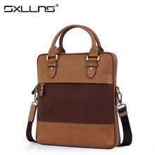 Hot Men Shoulder Bag Vintage Tote Bag Crossbody Bag Sxllns Brand Handbag Cowhide Briefcase Men's Messenger Bag Free Shipping