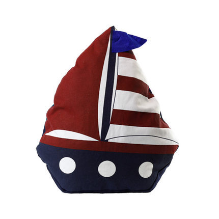 Little Sailing Ship Cotton Pillow 5