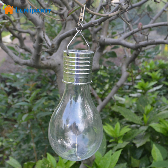 Lumiparty Hanging Solar Light Bulb With Clip Rotatable Outdoor Garden Camping Lamp
