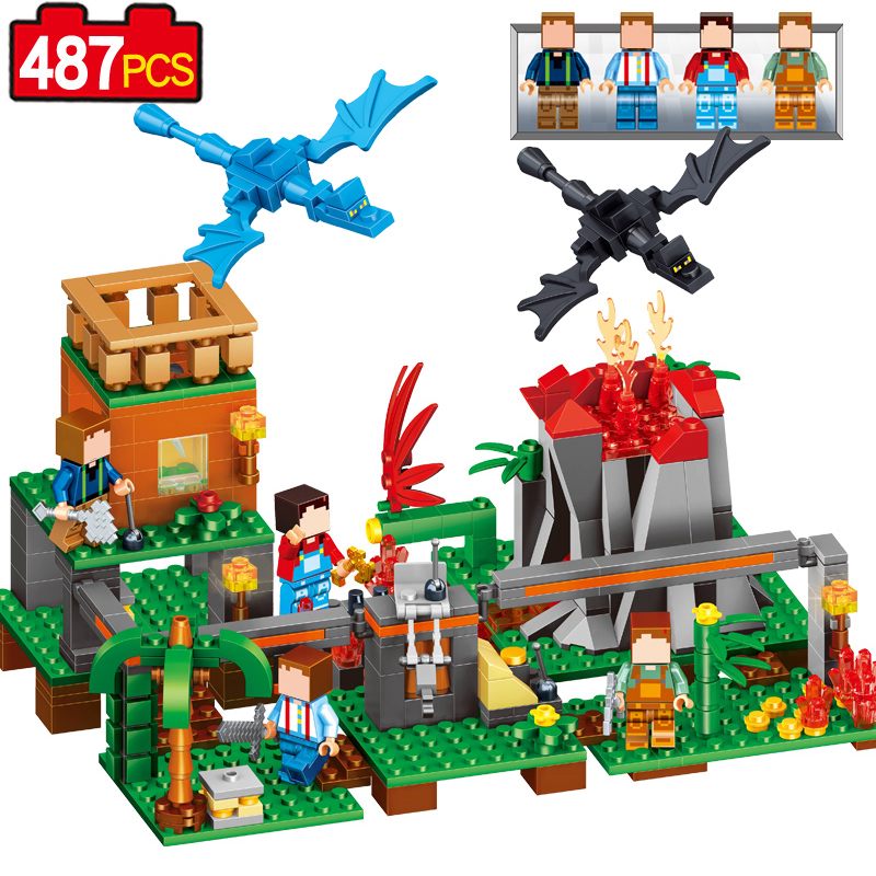 New Colorful 487pcs My World Educational Creative Figures DIY Building Blocks Bricks Toys Christmas brithday Gifts For Children 2016 new sluban 0502 building blocks 415pcs diy creative bricks toys for children educational bricks brinquedos legeod